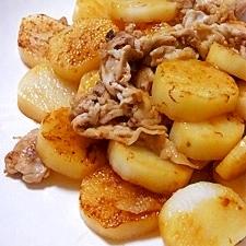 長芋と豚肉のほくほく炒め
