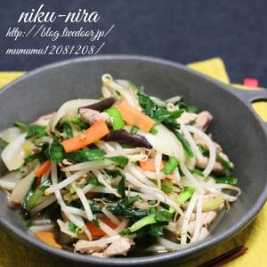 生姜たっぷり・肉ニラ炒め。(野菜炒め)