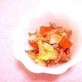 白菜と豚小間のオールスパイス炒め
