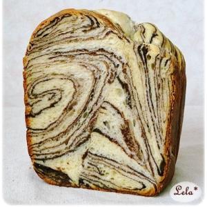 HBで簡単♪ チョコマーブル食パン