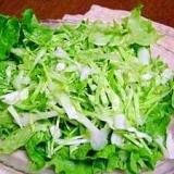 グレープシードオイルドレッシングでグリーンサラダ