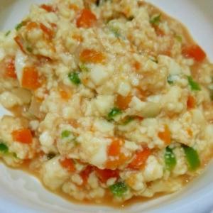離乳食☆豆腐と野菜のケチャップ炒め