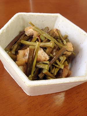 わらびと油あげの煮物