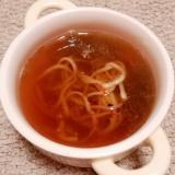 レンジで♪とろろ昆布とおそばの和風スープ