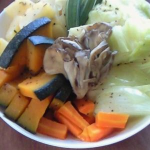 野菜たっぷり☆お皿蒸しでドーン!