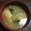 冬瓜と油揚げのお味噌汁