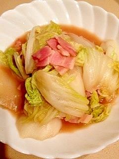 簡単! 白菜とベーコンの中華だし煮