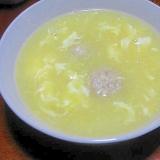 ホール缶で作る!簡単!中華風コーンスープ