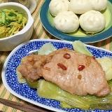 豚カツ肉でやってみて!厚切り豚の柔らか中華蒸し蒸し