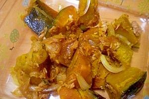 「ほくほくかぼちゃのシーチキン煮」    ♪♪