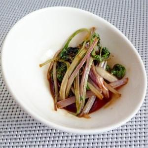 赤水菜のオイスターソース炒め
