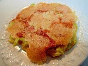 里芋とキャベツとハムとチーズのお好み焼き♬