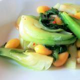 プチプラ青梗菜と銀杏の中華炒め
