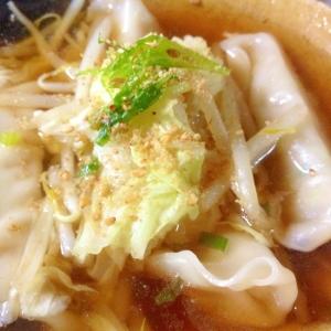 超☆手抜き「水ギョウザ野菜スープ」夜食に♪♪