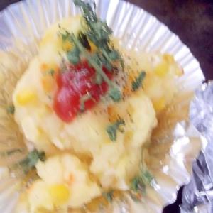 トウモロコシとポテトのトースター焼き