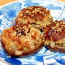 椎茸の餃子あん詰め焼き