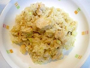 塩麹で ❤鶏肉とキャベツのリゾット風❤
