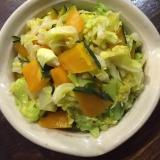 キャベツとかぼちゃのサラダ