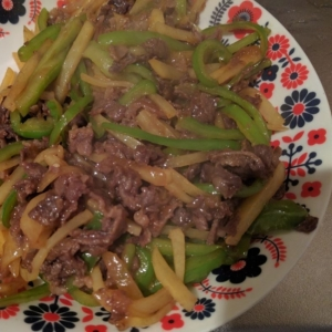 牛肉とピーマンの中華風炒め