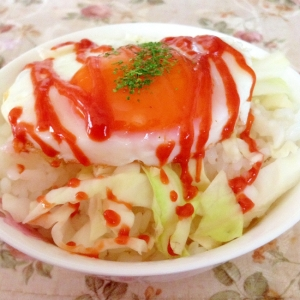 ケチャマヨ目玉焼き丼❤