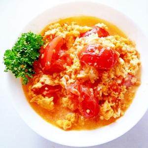 トマトと玉子の中華風炒め 西紅柿炒蛋