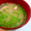 生椎茸とタマネギの味噌汁