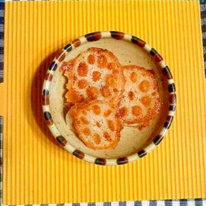 レンコンのベーコンチーズ焼き♪