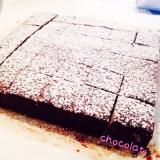 材料3つで簡単✼生チョコケーキ