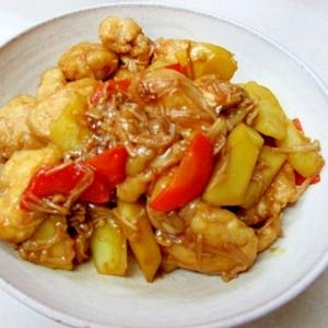 *チキンとポテトの甘辛炒め*