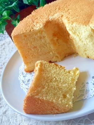 しっとりふわふわ♡基本のプレーンシフォンケーキ