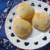 レンジ発酵パン クリームチーズあんパン