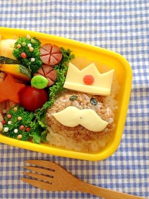 簡単キャラ弁☆王様なめこ のお弁当♪