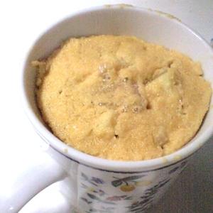 マグカップ&レンジでかんたん♪おからりんごケーキ