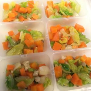 【離乳食完了期】しめじと野菜のだし煮