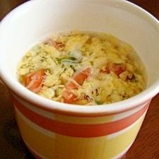 レンジで♪夏バテ予防のトマト玉子スープ