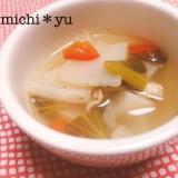 鉄分の吸収率アップ↑ かぶと小松菜のスープ