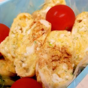 お弁当に!(^^)パセリとチーズの卵焼き♪