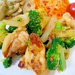 鶏肉とブロッコリーのマヨ醤炒め