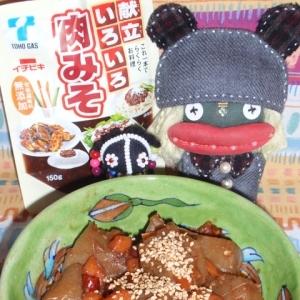 コンニャクの肉味噌煮