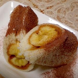 ピーナッツ★バナナロール ケーキ風