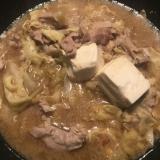 キャベツと豚肉のこってり鍋