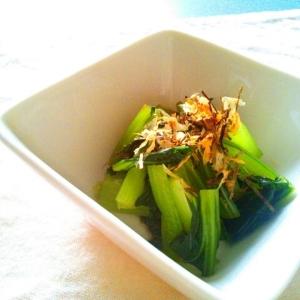 のり鰯節で小松菜のお浸し♡