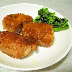 わが家の甘辛肉巻き豆腐