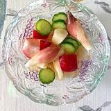 胡瓜、ラディッシュ、茗荷、菊芋の和え物