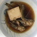 ハタハタと絹ごし豆腐の煮付け(*^^*)☆