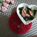 ツナと水菜とわかめのサラダ
