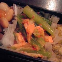 【お弁当】小松菜のマヨネーズ&キムチ和え