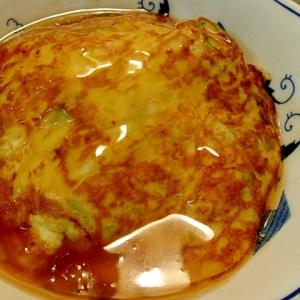 オクラ卵の天津飯風