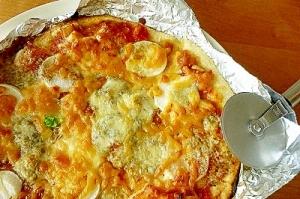 美味しい組み合わせ発見☆カブとブルーチーズのピザ♪