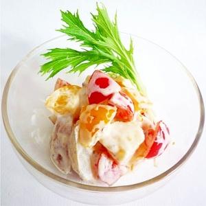 プチトマトとポテトのマスマヨサラダ